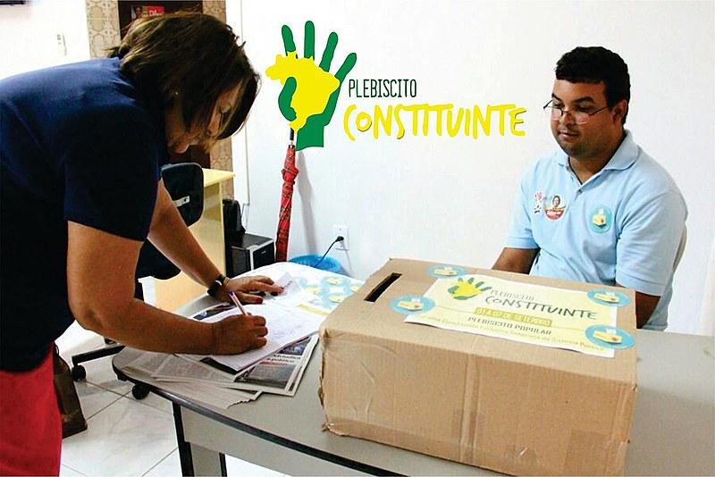 Movimentos populares promoveram plebiscito para promover uma Constituinte Exclusiva e Soberana para debater reforma política