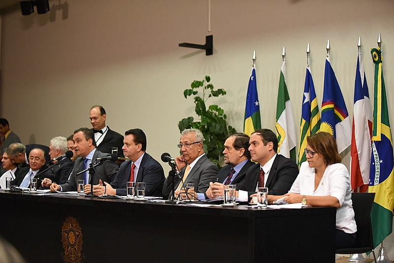 Reunião dos governadores do Nordeste com a bancada federal da região realizada em 2015