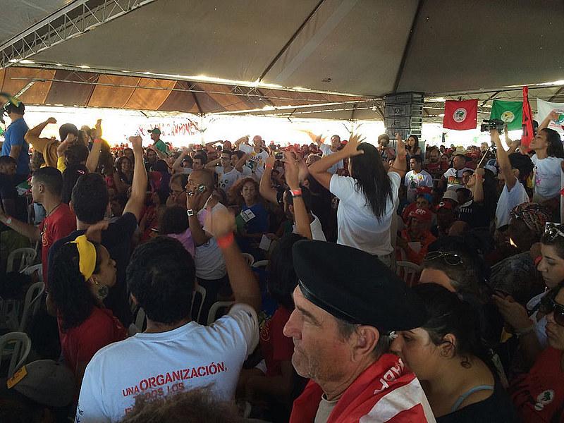 Acampamento Contra o Golpe é uma iniciativa da Frente Brasil Popular.