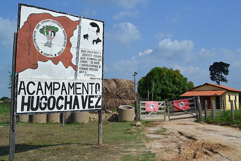 O acampamento Hugo Chávez foi levantado em 8 de junho de 2014, em Marabá (PA)
