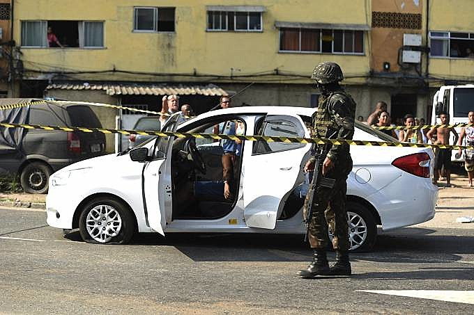 No carro fuzilado em abril por militares estavam Evaldo, sua esposa, o filho do casal de sete anos, uma amiga da família e o sogro