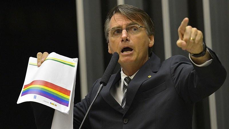 Jair Bolsonaro é conhecido pelo discurso homofóbico e violento