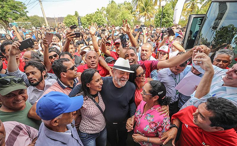 Lula visita o campus de Salinas do Instituto Federal do Norte, em 26 de outubro de 2017.