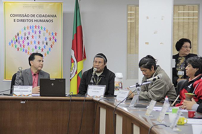 Cacique Leonardo pediu agilidade da resolução do problema em audiência proposta pelo deputado Jeferson Fernandes (PT)