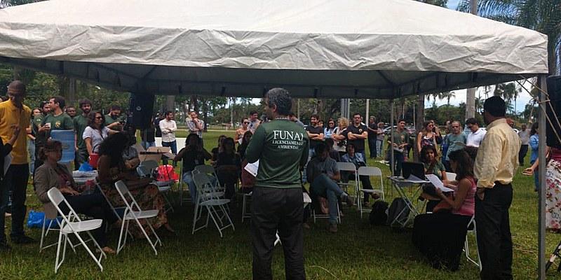 Assembleia de servidores da Funai nesta terça-feira (29), em Brasília (DF)