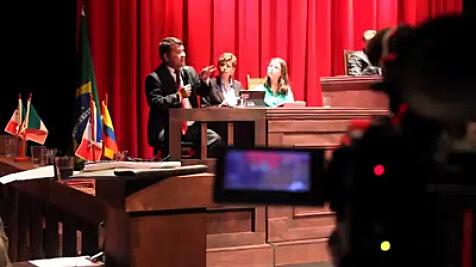 O Tribunal Internacional contou com representantes do meio jurídico de diversos locais do mundo