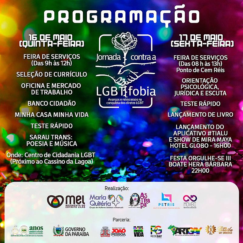 Os eventos são uma mostra das ações e serviços ofertados por órgãos que tratam da temática LGBT