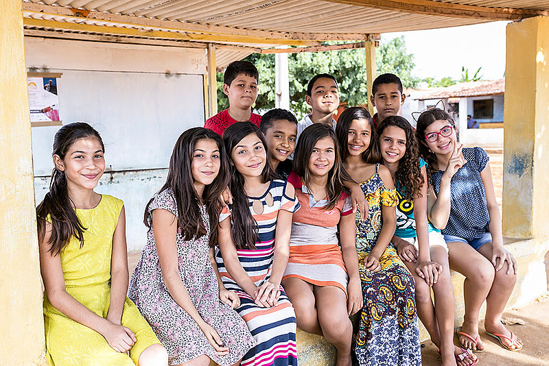 Crianças de Queimadas, na cidade de João Câmara no Rio Grande do Norte