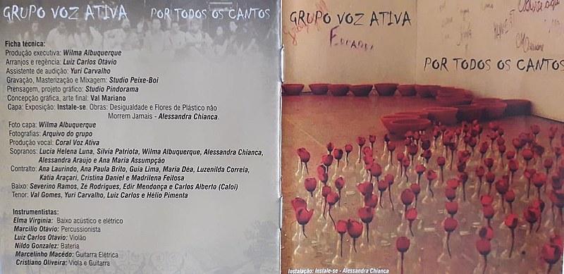 Capa do disco POR TODOS OS CANTOS -  de João Pessoa - PB