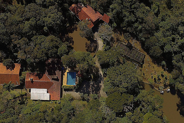 Aerial view of the property in Atibaia, São Paulo, owned by the Bittar family