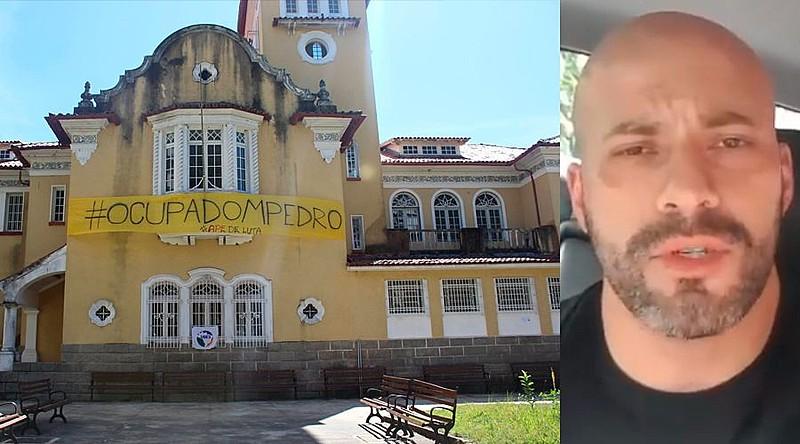 Daniel Silveira (PSL) entrou no Colégio Estadual Dom Pedro II em Petrópolis e depois gravou um vídeo fazendo ameaças à gestão da diretora