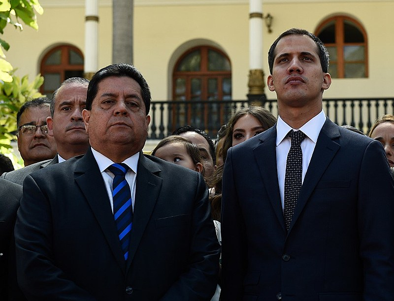 Apoiador de Guaidó, Edgar Zambrano foi detido na noite de quarta-feira (8) pelo Serviço Bolivariano de Inteligência
