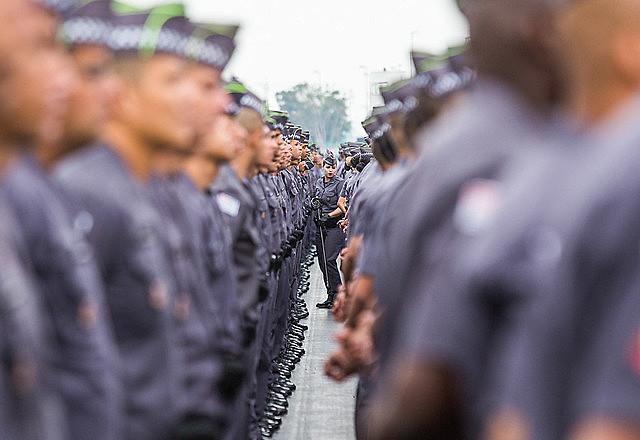 Formatura de soldados em São Paulo