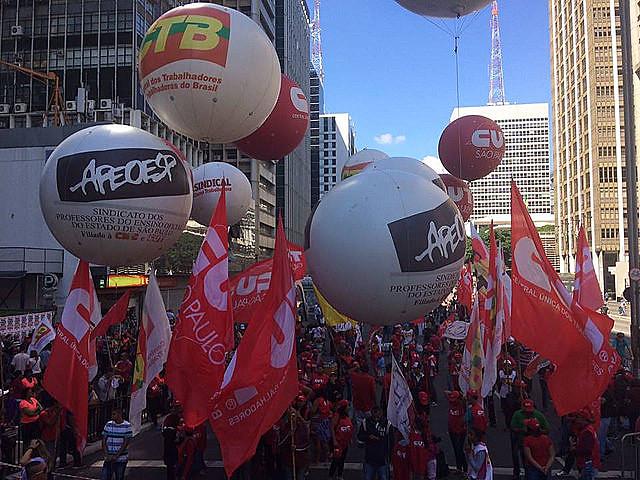 Centrais sindicais protestaram contra a reforma da Previdência e as mudanças nas leis trabalhistas neste 1º de maio