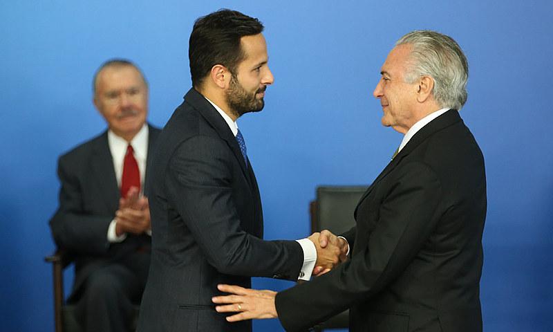 Michel Temer deu posse ao ex-ministro da Cultura, Marcelo Calero, em maio deste ano
