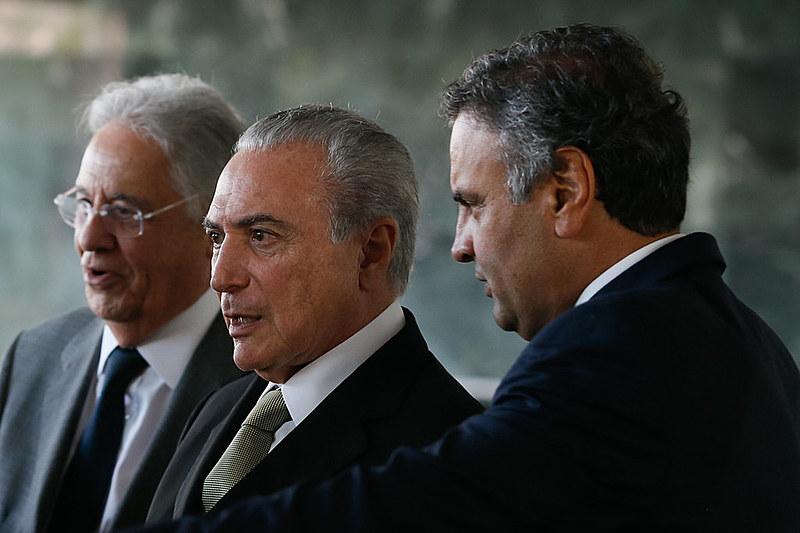 Presidente Michel Temer recebe lideranças do PSDB para almoço no Palácio da Alvorada