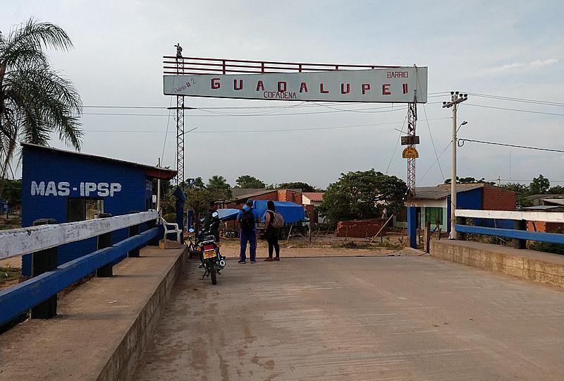 Entrada da ocupação Guadalupe tem as cores do Movimento ao Socialismo (MAS)