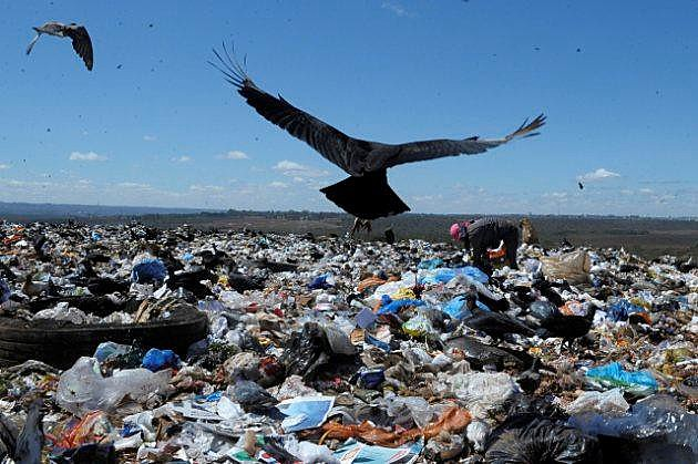 Coleta de material reciclável em lixão é a opção de renda para a população da cidade que enfrenta alto nível de desemprego