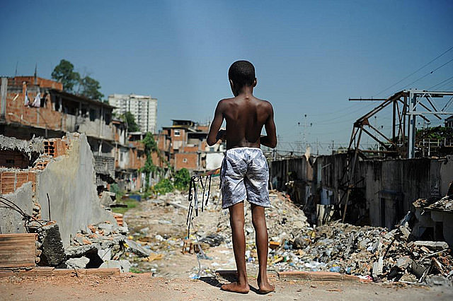 Rio de Janeiro slum Favela do Metrô after homes were demolished in squatted area in 2014