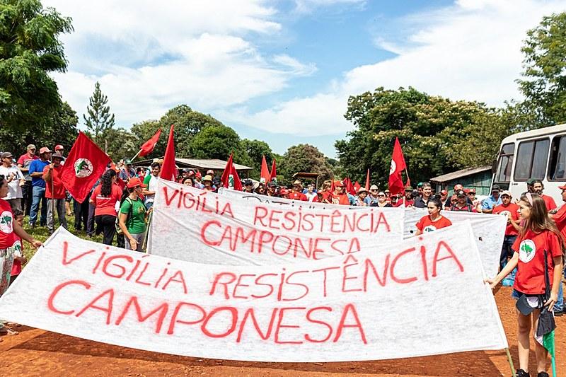 Vigília será mantida entre às 10h e às 15h, com revezamento de camponesas e camponeses moradores de acampamentos e assentamentos da região