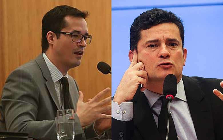 Deltan Dallagnol e Sergio Moro; vazamentos apontam para conluio e seletividade na Lava Jato para prejudicar o ex-presidente Lula