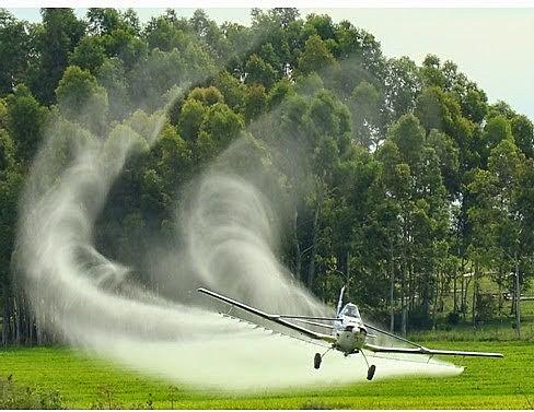 A fumigação aérea foi proibida em regiões como a União Europeia por seus efeitos negativos para a saúde e o meio ambiente