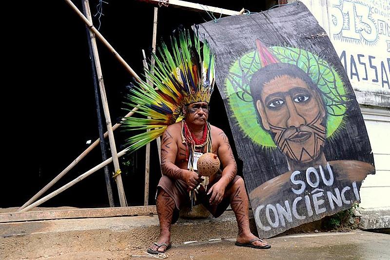 A aldeia urbana foi erguida por indígenas de diferentes etnias, em 2006, no bairro Maracanã, na zona Norte do Rio de Janeiro