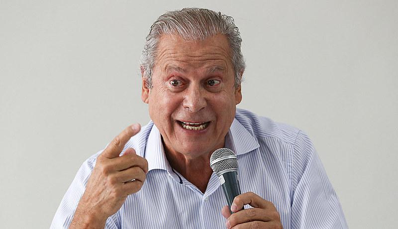 O ex-ministro José Dirceu durante o lançamento de seu livro em Brasília, em agosto de 2018