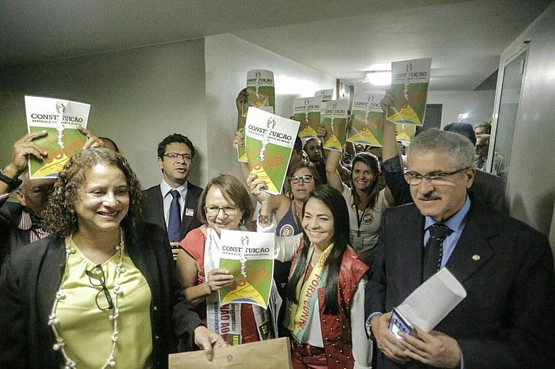 Presidente do PCdoB na Câmara, Luciana Santos protocolou o documento