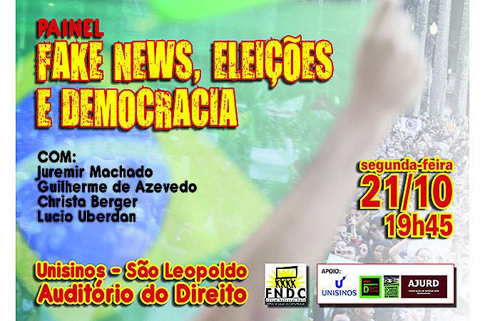 Painel 'Fake News, Eleições e Democracia' será realizado na Unisinos, em São Leopoldo