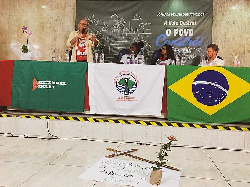 """A jornada de luta """"A Vale Destrói, o povo constrói"""" foi lançada em evento nesta terça-feira (15), em São Paulo (SP)"""