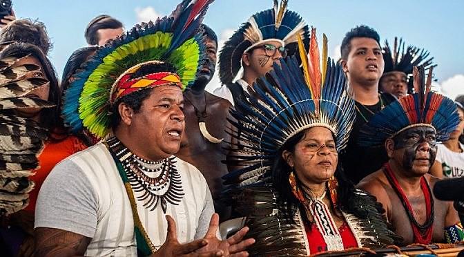 Cerca de quatro mil pessoas representando 150 etnias participam do acampamento na capital do país.