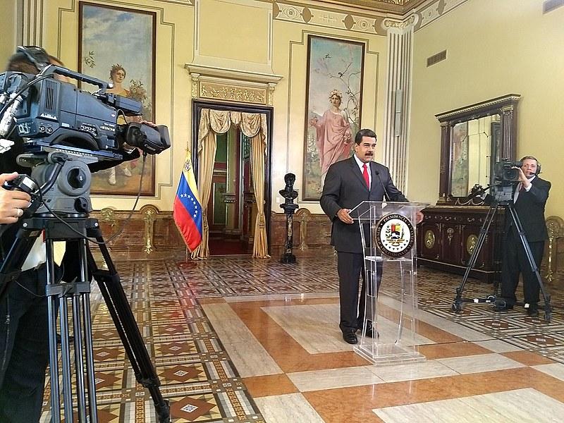 Presidente Nicolás Maduro concedeu entrevista coletiva para meios internacionais, na quinta-feira (15)