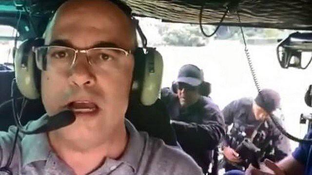 Witzel divulgou no Twitter voo em helicóptero da polícia durante operação em Angra dos Reis, no sul fluminense, no último domingo (5)