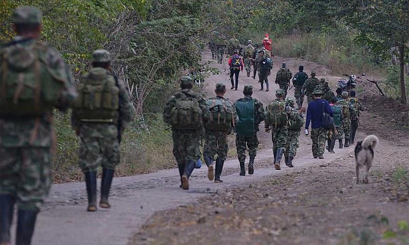 Acampamento Los Pondores, localizado no norte da Colômbia, abriga 300 guerrilheiros das Farc
