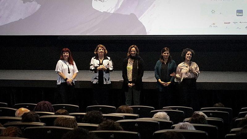 Simone Yunes, Débora Ivanov, Laís Bodansky e Tata Amaral durante I Fórum de Lideranças Femininas do Audiovisual