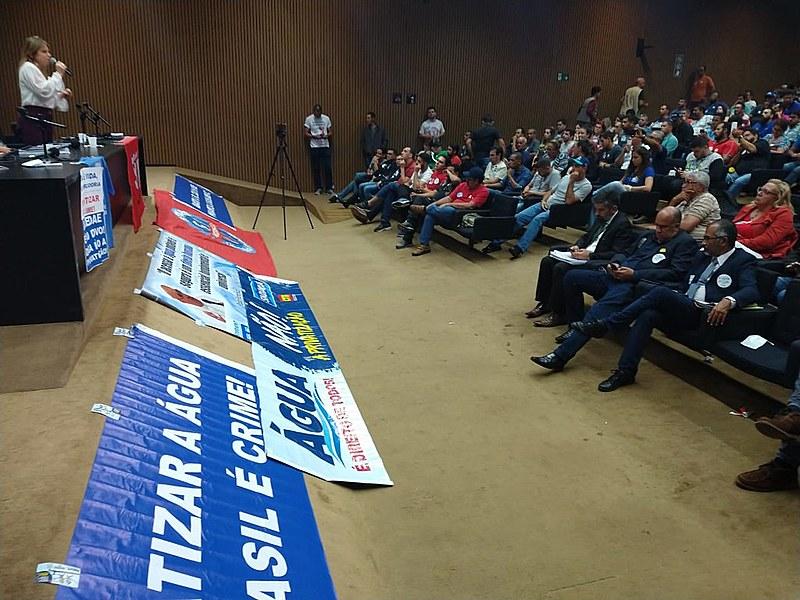 Mobilização contra PL 3261 reuniu cerca de 550 trabalhadores em auditório da Câmara dos Deputados