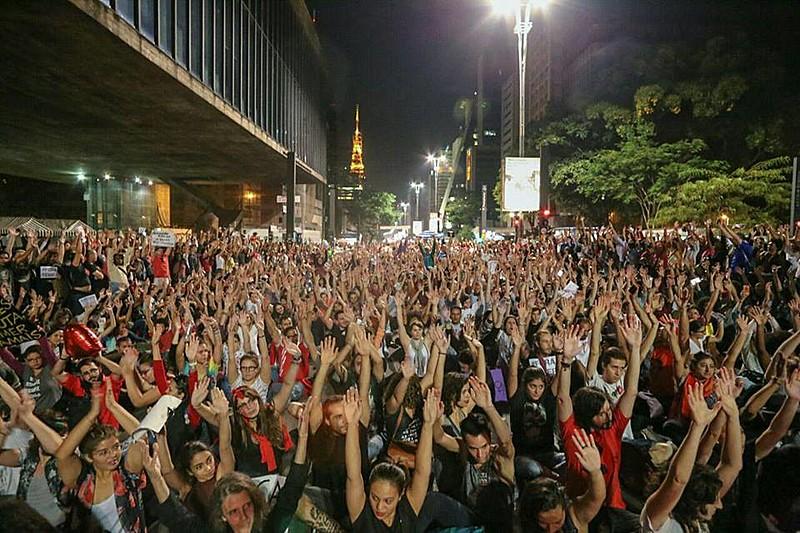 Manifestação contra o governo interino de Michel Temer em São Paulo (SP)