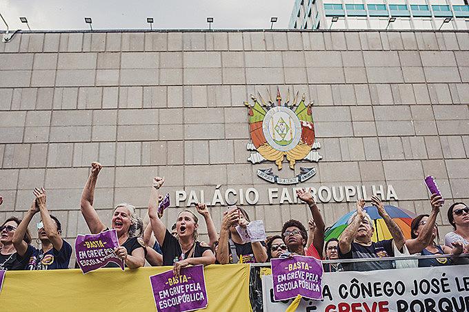 Fórum dos Servidores Públicos do RS realizou ato unificado no dia 26 de novembro