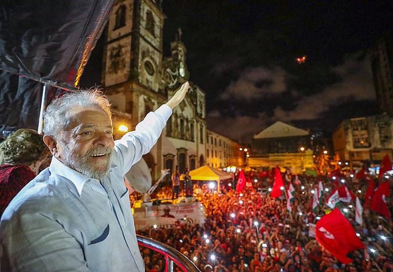Lula durante visita ao Recife, em 2017