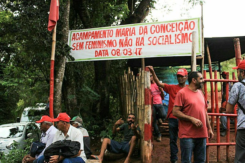 Acampamento Maria da Conceição foi ocupado pelas mulheres na jornada de lutas do 8 de março no ano passado