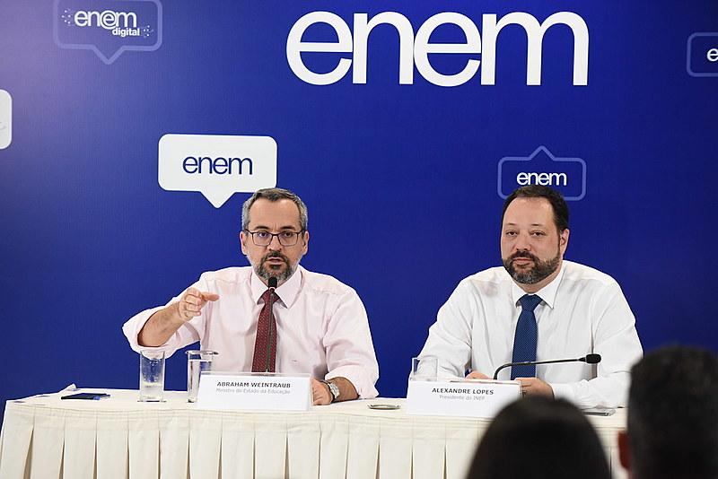 Resultados do Enem 2019 foram apresentados em coletiva de imprensa no Ministério da Educação (MEC), em Brasília (DF)