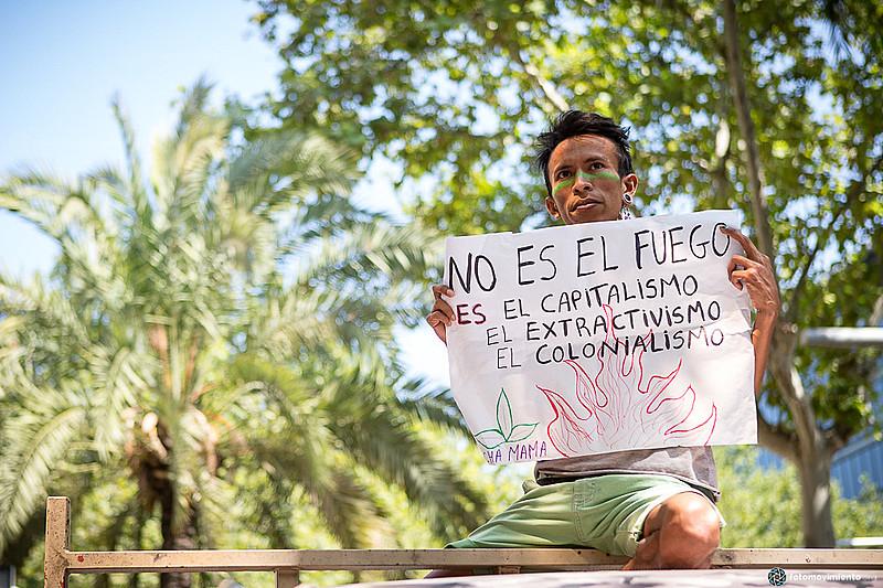 """Manifestação na Espanha, """"A Amazônia queima, nós também"""". 23 de agosto de 2019"""