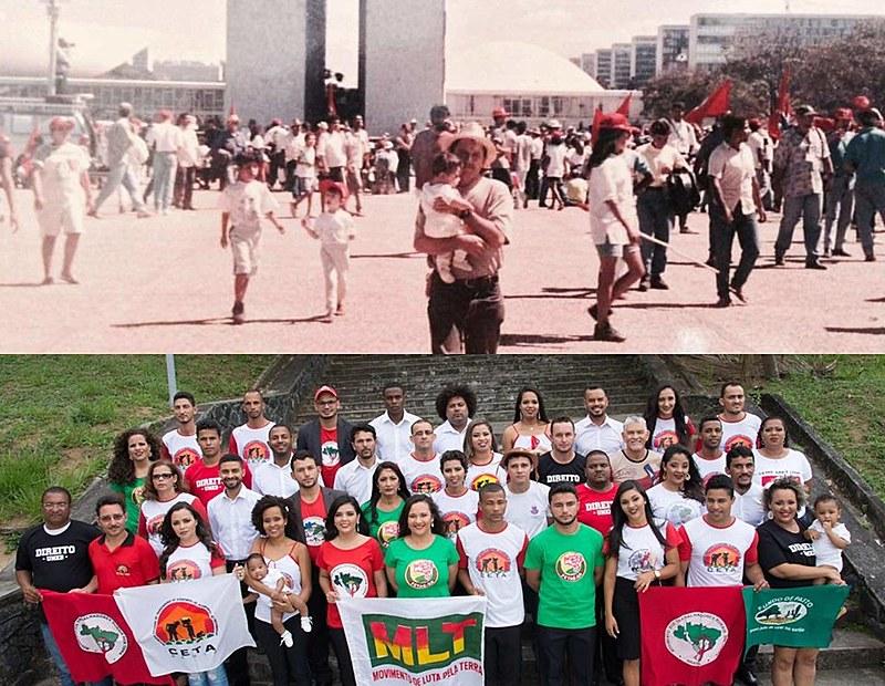 Ariane no 3º Congresso Nacional do MST, 1995, Brasília/DF e depois com a Turma de Direito Eugênio Lyra - UNEB (PRONERA)