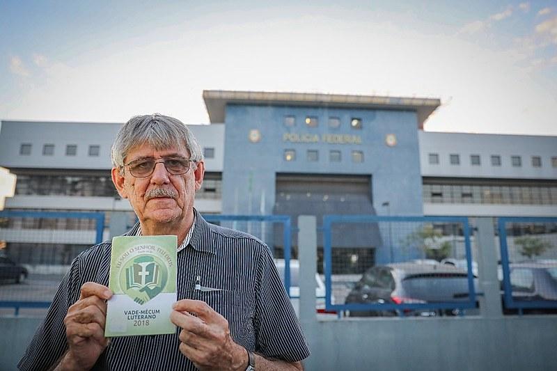 Pastor luterano Inácio Lemke relata conversa com Lula na prisão nesta segunda-feira (23) em Curitiba / Ricardo Stuckert