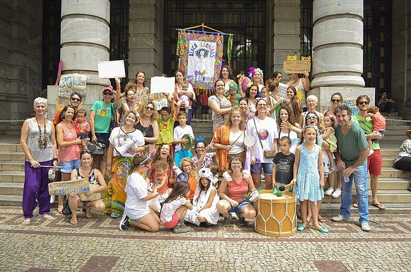Bloco das Leoninas aconteceu no domingo (5), no centro de BH