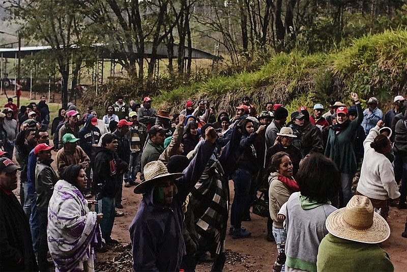 Uma das ações do MST deste ano, militantes ocupam fazenda no  interior de SP em julho