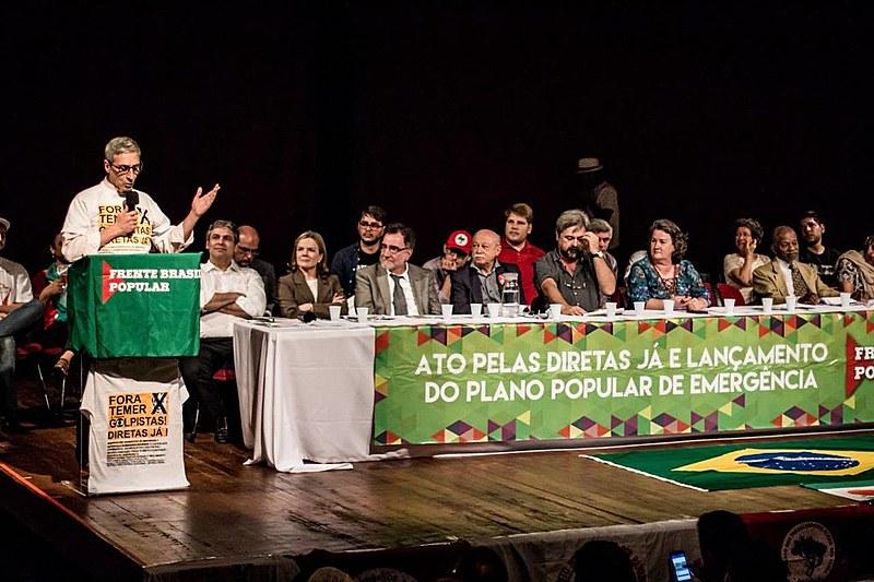 Ato de lançamento do Plano Popular de Emergência, em Brasília