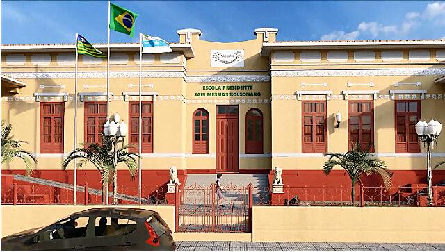 A unidade do Sesc chegou a receber na fachada o nome de Bolsonaro, posteriormente apagado