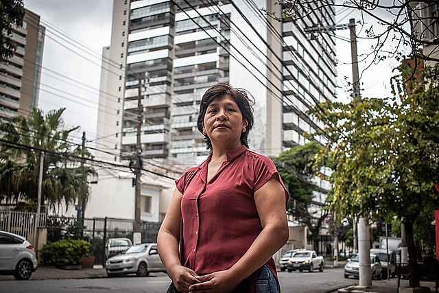 Nancy Salva is one of the 350,000 Bolivian women who live in Brazil